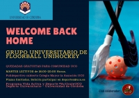 Welcome back home, el grupo de floorball unihockey universitario, reanuda sus quedadas